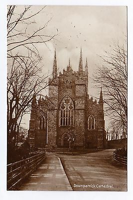 P3016 Original old RP postcard of Downpatrick Cathedral, Co Down