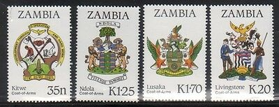 Zambia 373-6 Coats of Arms Mint NH