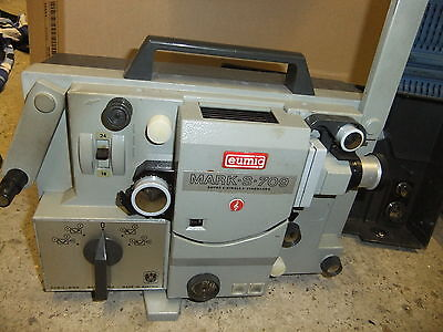 Cine film projector EUMIG S-709 SOUND super 8 & standard 8mm +  cogs NO LEAD
