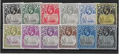 Ascension Sg10/20 1924-33 Definitive Set Mtd Mint