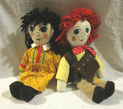 Canal Boat Rosie & Jim 15 Inch Rag Dolls ( The Hand N Puppet Company)
