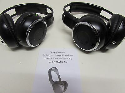 2 off STEREO HEADPHONES Dual Channel 1R WIRELESS