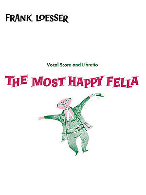 Most Happy Fella Frank Loesser Musical Vocal Score Piano Sheet Music Book NEW