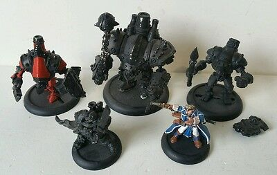 5 x Warmachine metal models 1 x well painted 4 x primed Cygnar complete