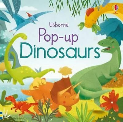 NEW Pop-Up Dinosaurs By Fiona Watt Board Book Free Shipping