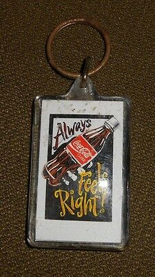 Vintage Coca Cola Coke Always Feels Right advertising keychain FREE SHIPPING