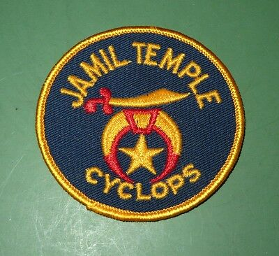 Jamil Temple Cyclops Shriner Masonic Patch Columbia South Carolina SC
