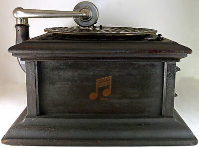 Vintage Columbia Table Top Graphophone Wind Up Phonograph Record Player As-Is
