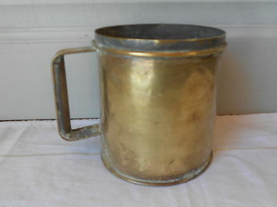 Antique FRENCH brass MEASURING POT Planter Jardiniere