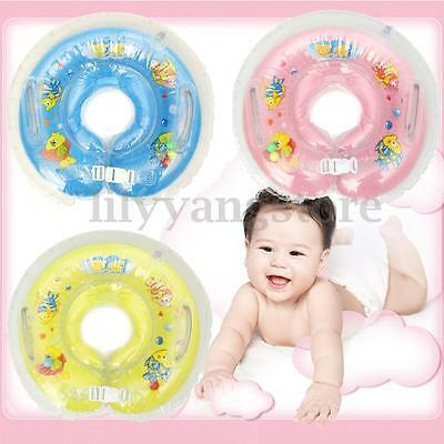Adjustable Inflatable Baby Infant Swimming Neck Safety Bath Swim Pool Float Ring