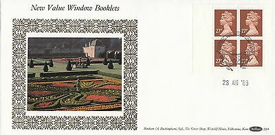 (94189) CLEARANCE GB Benham FDC D84 £1.08 Window Booklet 27p Windsor 23 Aug1988
