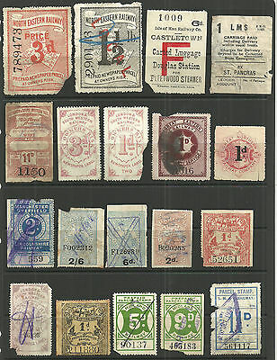 Selection 37 Different Great Britain Railway Letter Parcel/newspaper Stamps