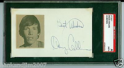 Doug Collins Autographed Index Card with picture SGC Authentic Encased