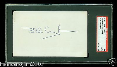 Billy Cunningham Autographed Index Card SGC Authentic Encased