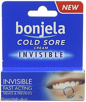 Bonjela Invisible Cold Sore Pan and Symptom Relief Cream 2g