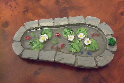 Dolls House Miniature Or Fairy Garden Decorative Resin Pond New   1.12 Scale