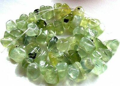 UKcheapest-100% natural genuine Prehnite nuggets 14x12mm green gemstone beads