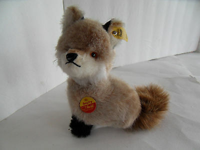 Steiff fox sitting all Ids made in Germany 1680