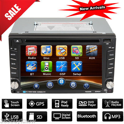 6.2'' 2 DIN Bluetooth Auto CD DVD Lettore Stereo Autoradio FM USB SD MP3 Player