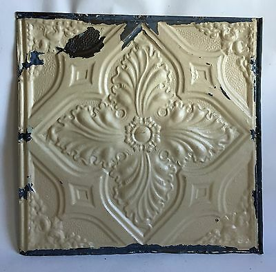 "24""x 24"" Antique Ceiling Tin Tan  *See Our Salvage Videos Reclaimed C63a  Metal"