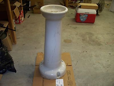 "vintage porcelain drinking fountain, lighthouse, city park, 36"" tall, base 16""+"
