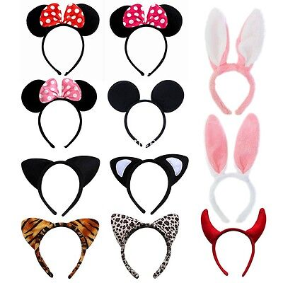 Neuf Minnie Mouse Animal Serre-tête Oreilles Filles Mickey Costume Déguisement