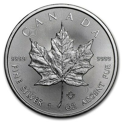CANADA 5 Dollars Argent 1 Once Maple Leaf 2016 - 1 Oz silver coin