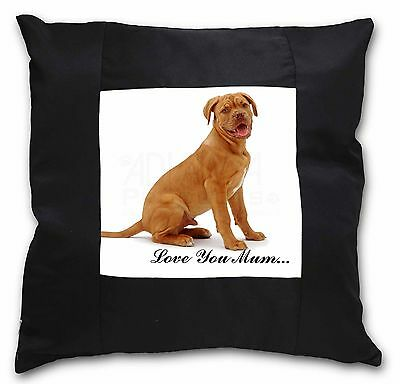 Dogue De Bordeaux /'Love You Mum/' Soft Velvet Feel Cushion Cover W AD-DB2lym-CPW