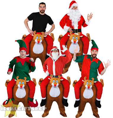 Reindeer Pick Me Up Ride On Piggy Back Father Christmas Fancy Dress Xmas Elf