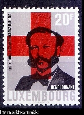 Luxembourg 1989 MNH, Henry Dunant, Red Cross, Nobel Peace - M2