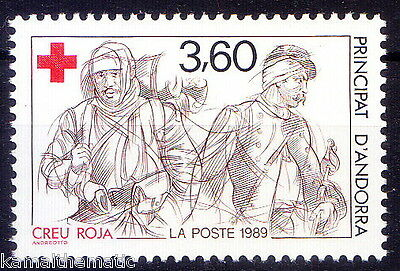 Andorra French Post 1989 MNH 1v, Red Cross (6)  - M6
