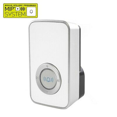 Lloytron Wireless Cordless Door Bell MiP Mains Plug-In 32 Melody Receiver White