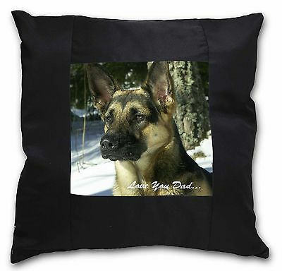 White German Shepherd /'Love You Dad/' Soft Velvet Feel Cushion Cover DAD-133-CPW