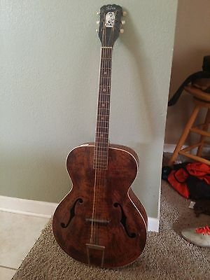 Vintage 1950s Kay Archtop Acoustic Wood Guitar