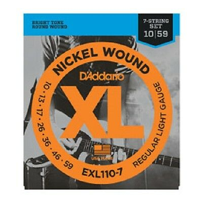 D'Addario XL Nickel Wound Electric Guitar Strings - 7 & 8 String Gauges