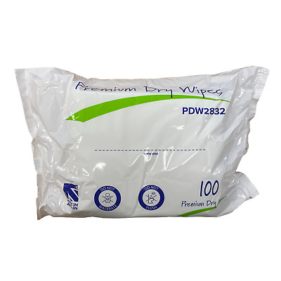 Clinitex Flushaway Dry Patient Wipes - Pack of 100