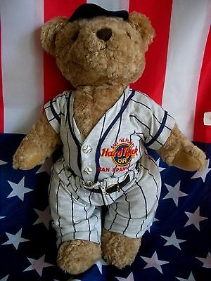 HRC Hard Rock Cafe San Francisco Baseball Jumbo Teddy Bear 45cm 13`` Bär LE