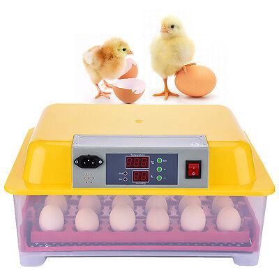 Digital Chicken Duck Bird 24 Egg Incubator Fully Automatic Poultry Hatcher Farm
