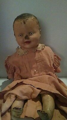 Vintage Composition Doll w/Cloth VERY OLD