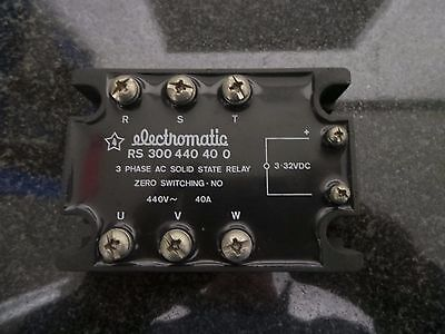 Electromatic RS 300 440 40 0 - 3 Phase AC Solid State Relay