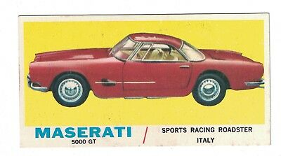 1961 Topps Sports Cars Card #7 MASERATI 5000 GT Sports Racing Roadster