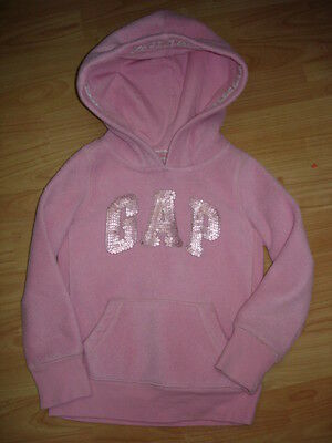 GAP GIRLS PINK FLEECE HOODIE AGE 4/5yrs