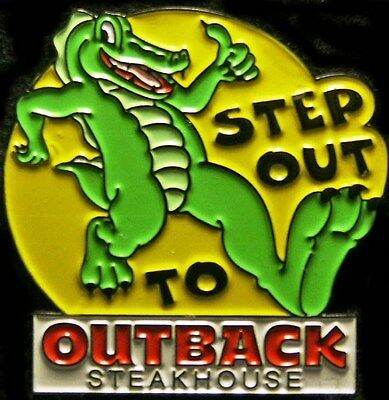 J0979 Outback Steakhouse hat lapel pin Step out to Outback