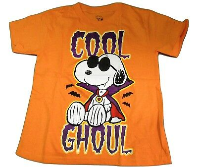 NEW HALLOWEEN IS COOL SNOOPY PEANUTS YOUTH SIZE 5//6-7-8//10 SHIRT