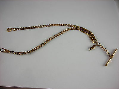 "Antique J.E.S.S. gold filled pocket watch chain. 16"" long."