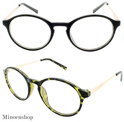 Retro Vintage Oval Clear Lens Eye Glasses Hipster Cool Nerd P3 Smart Round Euro