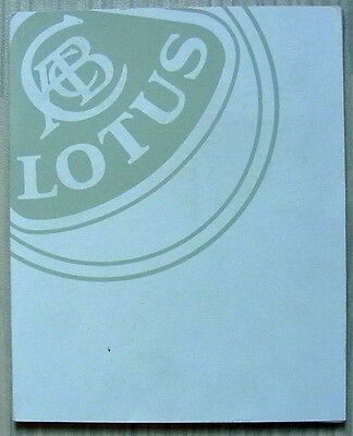 LOTUS Car PRESS PACK Brochures Photos Oct 1996 ELISE Esprit GT3 & V8