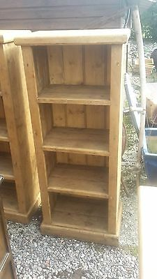 Rustic Solid Pine Slim Bookcase ( 2 Available) Del Avail