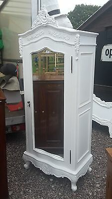 White French Style Single Door Wardrobe / Armoire Delivery Avail