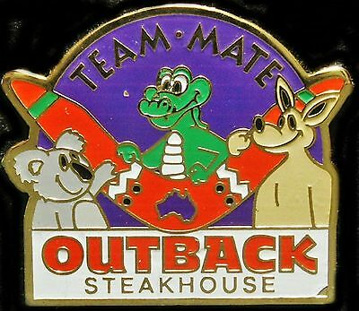 A5073a Outback Steakhouse Team Mate Purple Background